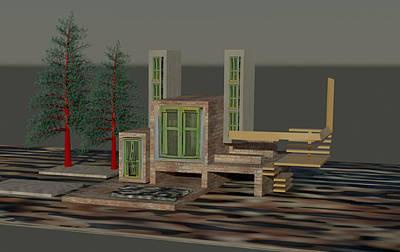 Digital Art - House by Bogdan Floridana Oana