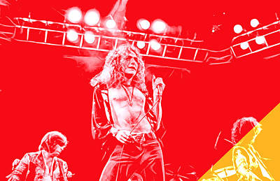 Rock N Roll Mixed Media - Led Zeppelin Collection by Marvin Blaine