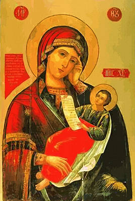 Madonna And Child Art Print by Christian Art