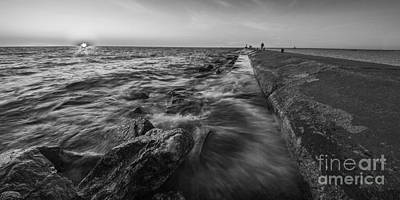 Lighthouse Photograph - Manistee Lighthouse And Pier by Twenty Two North Photography