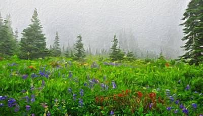 Mountains Painting - Nature Original Landscape Painting by Margaret J Rocha