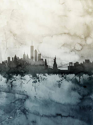 New York Digital Art - New York Skyline by Michael Tompsett