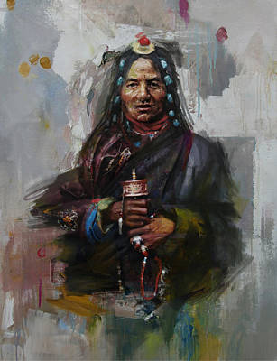 Painting - 20 Pakistan Folk Gilgit B by Maryam Mughal