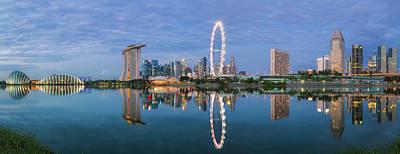 Singapore City Art Print by Anek Suwannaphoom