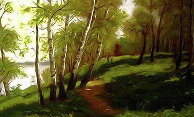 Spring Painting - Nature Work Landscape by Edna Wallen