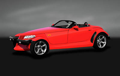 Photograph - 2000 Plymouth Prowler Roadster  -  2000plymouthprowlercvgray185948 by Frank J Benz