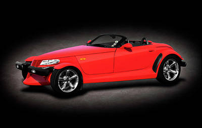 Photograph - 2000 Plymouth Prowler Roadster  -  2000plymouthprowlertexture185948 by Frank J Benz