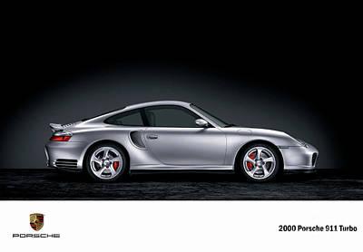 Digital Art - 2000 Porsche 911 Turbo. by Mohamed Elkhamisy