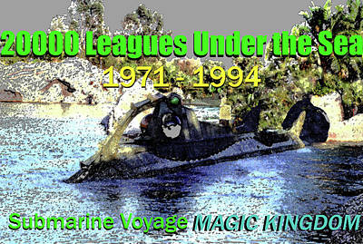 Painting - 20000 Leagues Under The Sea 1971 - 1994 by David Lee Thompson