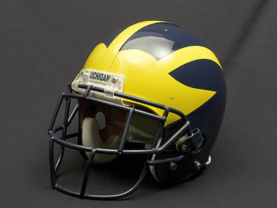 Photograph - 2000s Era Wolverine Helmet by Michigan Helmet