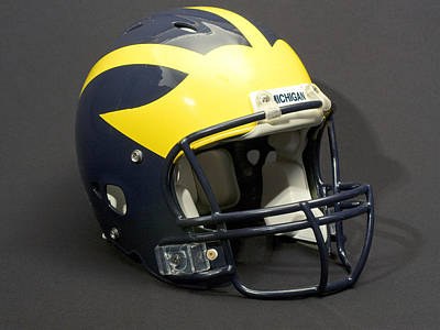 Photograph - 2000s Wolverine Helmet by Michigan Helmet