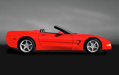 Photograph - 2001 C5 Chevrolet Corvette Convertible  -  2001c5chevyvettegry184326 by Frank J Benz