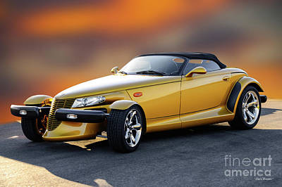 Comic Character Paintings - 2001 Plymouth Prowler II by Dave Koontz