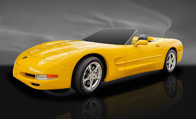 Street Rod Photograph - 2002 C5 Chevrolet Corvette by Frank J Benz