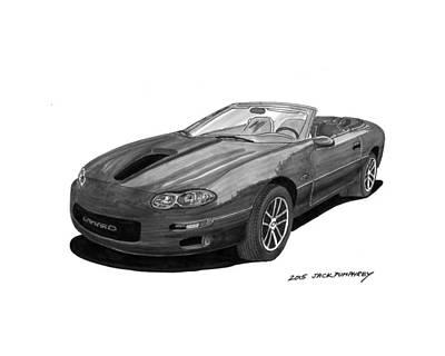 Painting - 2002 Chevrolet Camaro Convertible by Jack Pumphrey