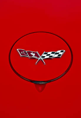 Photograph - 2002 Chevrolet Corvette Emblem by Glenn Gordon