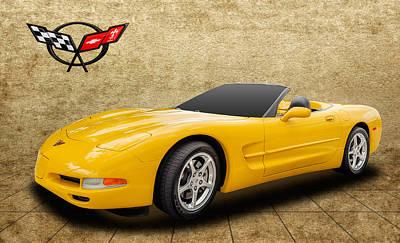 2002 C5 Chevy Corvette Art Print