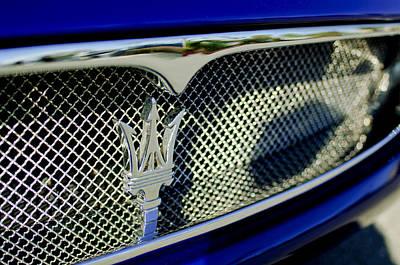 2002 Maserati Hood Ornament Art Print by Jill Reger