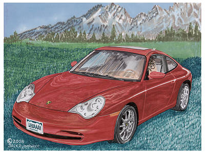 Painting - 2002 Porsche 996 Carrera by Jack Pumphrey