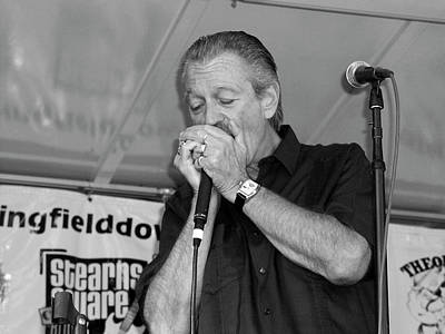 Photograph - 2003 Charlie Musselwhite Concert by Mike Martin