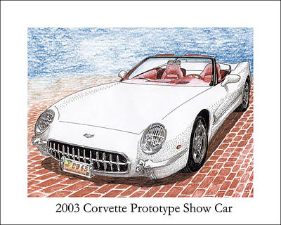 Painting - 2003 Corvette Prototype by Jack Pumphrey