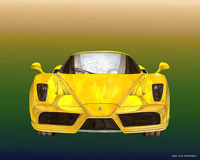 Painting - 2004 Ferrari Enzo 400 Of 400 by Jack Pumphrey