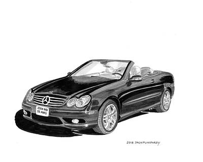 Painting - 2004 Mercedes Benz 55 Amg by Jack Pumphrey