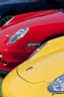Photograph - 2004 Porsche Carrera Gt Hoods - 1 by Jill Reger