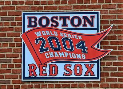 2004 World Series Plaque - Fenway Park Art Print