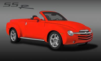 2005 Chevrolet Ssr - Super Sport Roadster  -  2005chevyssrlogo173401 Art Print