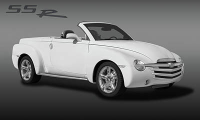 Photograph - 2005 Chevrolet Ssr - Super Sport Roadster  -  2005chevyssrlogoblkwhi173401 by Frank J Benz