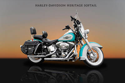 Photograph - 2005 Harley-davidson Heritage Softail - 2 by Frank J Benz