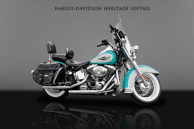 Photograph - 2005 Harley-davidson Heritage Softail - 3 by Frank J Benz