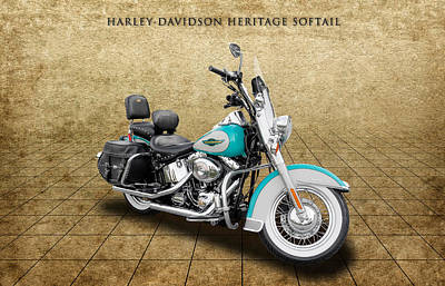 Photograph - 2005 Harley-davidson Heritage Softail - 4 by Frank J Benz