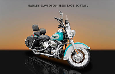 Photograph - 2005 Harley-davidson Heritage Softail - 5 by Frank J Benz