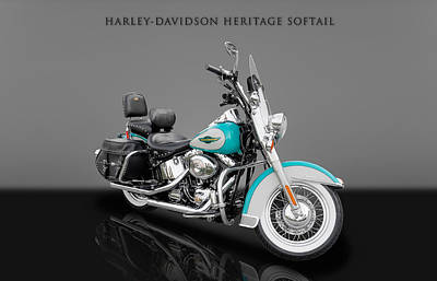Photograph - 2005 Harley-davidson Heritage Softail - 6 by Frank J Benz