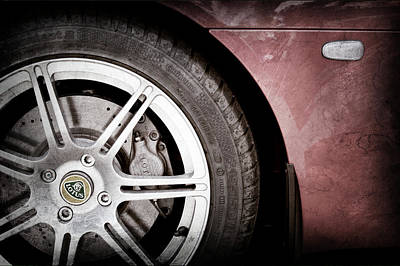 Photograph - 2005 Lotus Elise Wheel Emblem -1676ac by Jill Reger