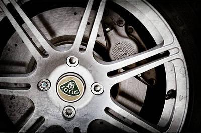Photograph - 2005 Lotus Elise Wheel Emblem -1679ac by Jill Reger