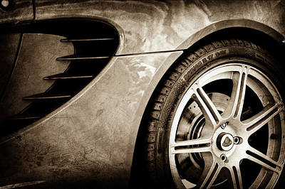 Photograph - 2005 Lotus Elise Wheel Emblem -1694s by Jill Reger