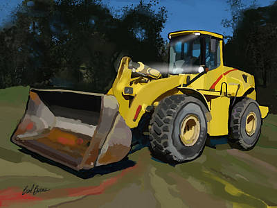 Artist Working Photograph - 2005 New Holland Lw230b Wheel Loader by Brad Burns
