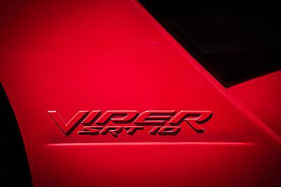 Photograph - 2006 Dodge Viper Srt 10 Emblem -0062c by Jill Reger
