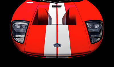 Photograph - 2006 Ford Gt Front End Detail  -  06fordgtfrt9473 by Frank J Benz