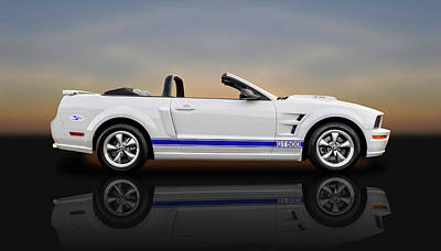 Photograph - 2006 Ford Mustang Gt500 Convertible  -  06fordmusreflect8963 by Frank J Benz