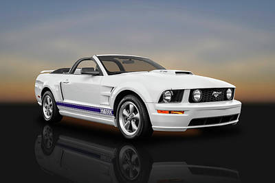 Photograph - 2006 Ford Mustang Gt500 Convertible  -  2006fdmusrefl8959 by Frank J Benz