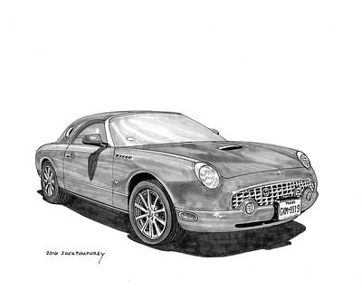 Painting - 2006 Ford Thunderbird by Jack Pumphrey