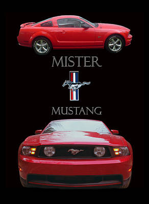 Photograph - 2006 Mustang Poster by Jack Pumphrey