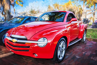 2006 Ssr Chevrolet Truck Painted  Art Print by Rich Franco