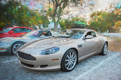 Photograph - 2007 Aston Martin Db9 Coupe Painted C310 Bw by Rich Franco