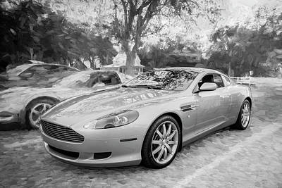 Photograph -  2007 Aston Martin Db9 Coupe Painted  C311 Bw by Rich Franco