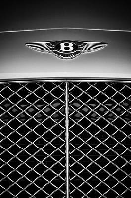 2007 Photograph - 2007 Bentley Continental Gtc Convertible Emblem -2435bw by Jill Reger